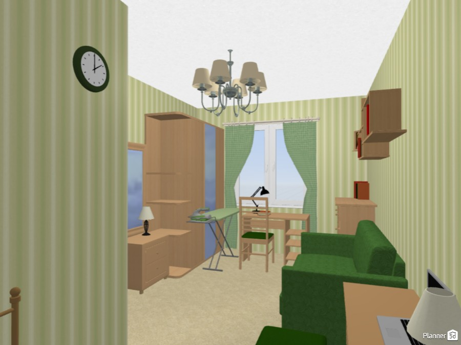Дизайн интерьера однокомнатной квартиры малых габаритов 71692 by Мария Кирпа image
