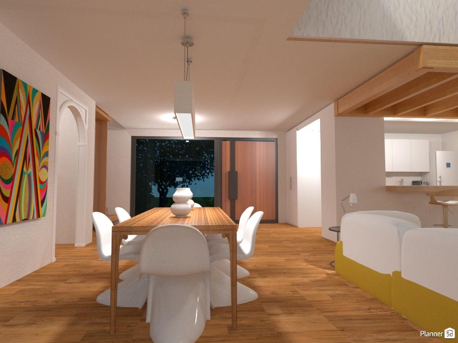 Wooden maisonette entryway   apartment ideas   planner 5d