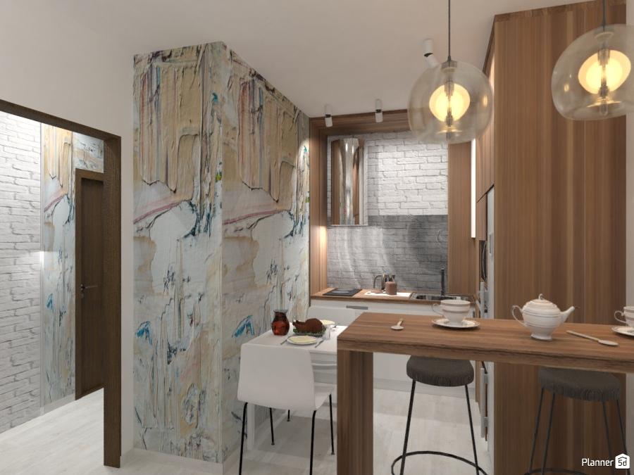 дизайн кухни Ideas Para Apartamentos Planner 5d