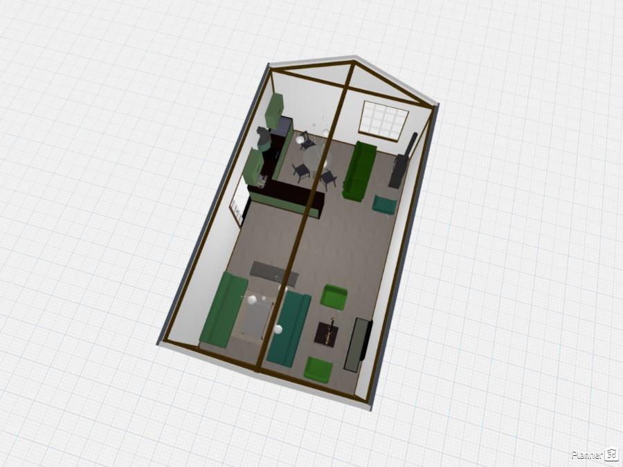 Sala com inspiração de verde 83078 by Anna doggy image
