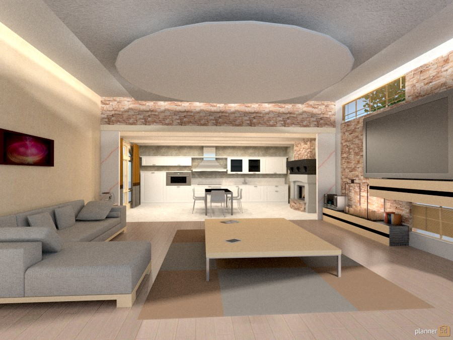 Salotto e cucina - Dining room ideas - Planner 5D