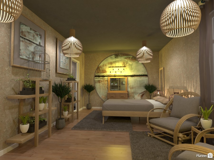 Boho style interior contest design:  Bedroom 3566370 by Doggy image