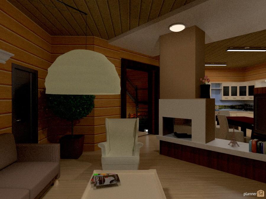 Камин в гостиной 694336 by Татьяна Максимова image
