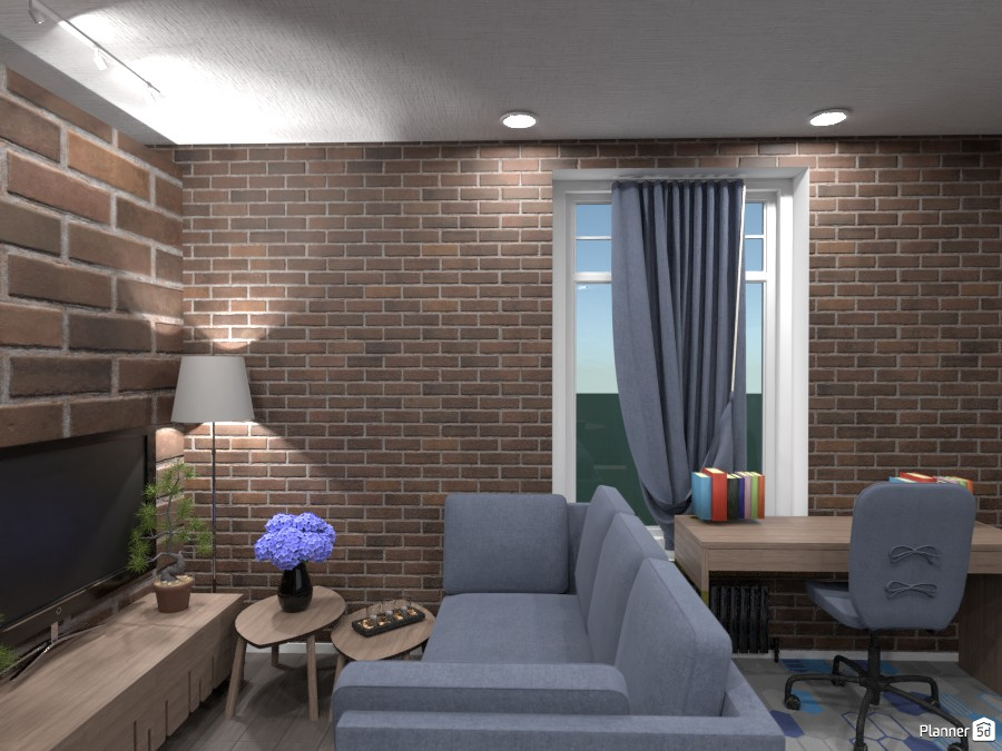 Contest Apt.   Living room and desk 3514195 by Doggy (please vote) image