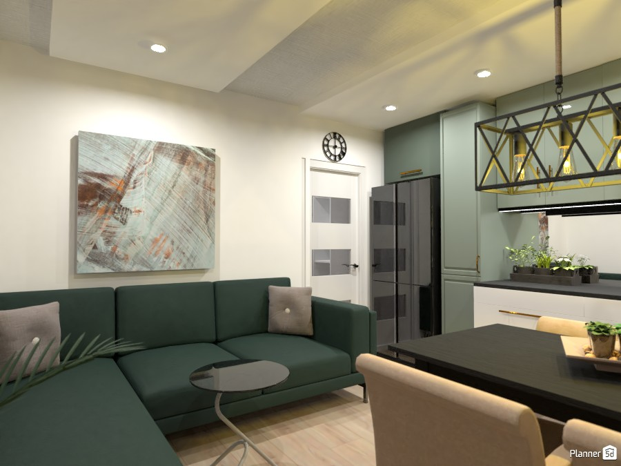 Small apartment ideas / Living room and kitchen 3655535 by Dajana Bakovic image