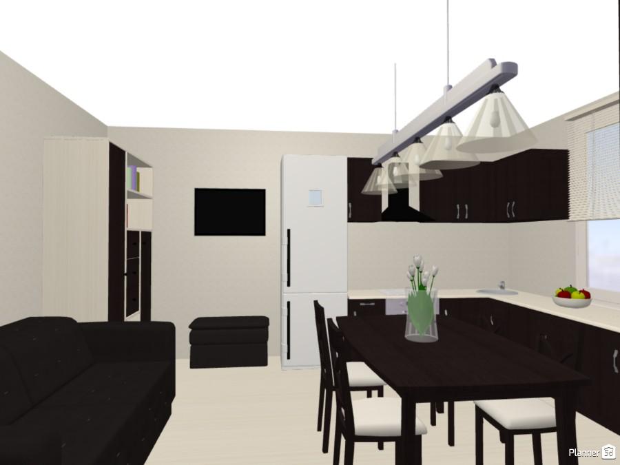 Дизайн кухни-столовой в стиле минимализм 75206 by Мария Кирпа image