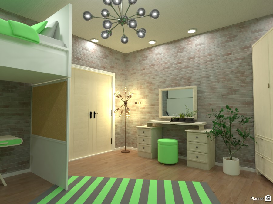 Green bedroom,  Render 2 3669678 by Doggy (please vote) image