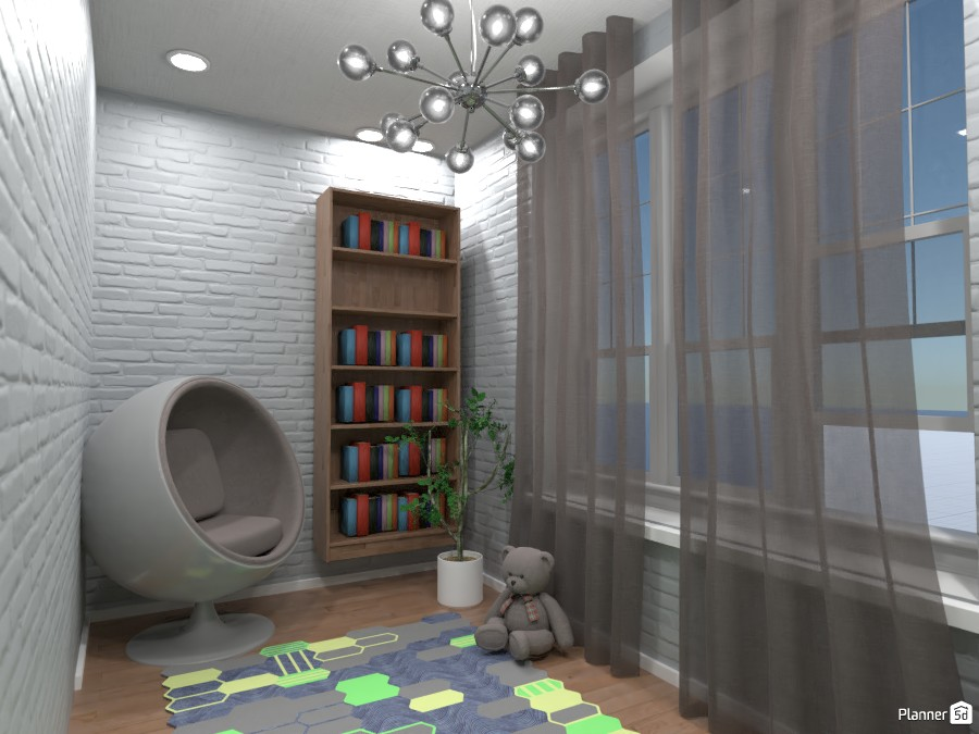 Cozy area in yellow and green bedrooms. 3669688 by Designer (doggy) image