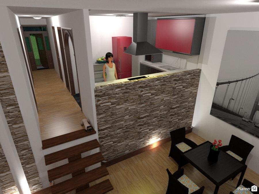 Cocina y comedor de casa campestre apartamento ideas for Cocina estar comedor