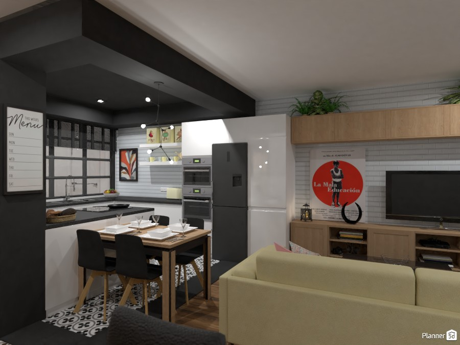 City Apartment No. 2 / Living room+kitchen 3723969 by Lucija Marko image