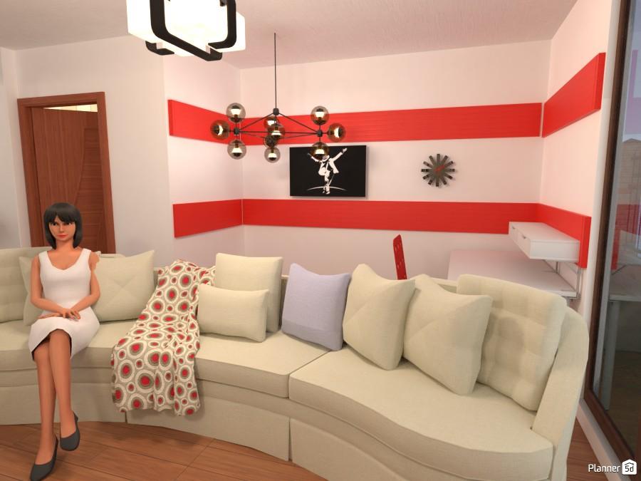 Living room with a work area 3251236 by Erastus Marugu image