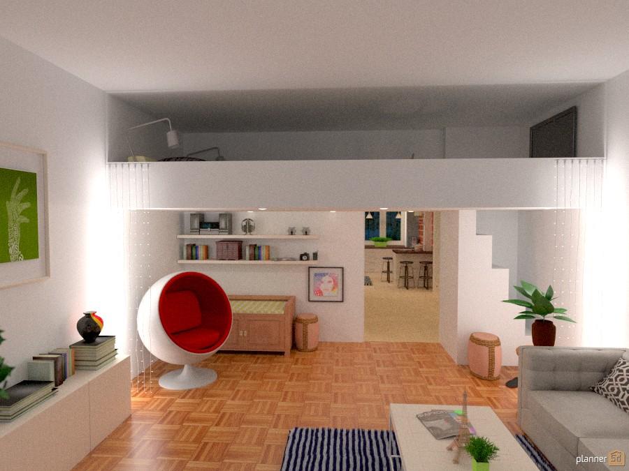 Small Loft: lving room and bedroom 960889 by Lucija Marko image