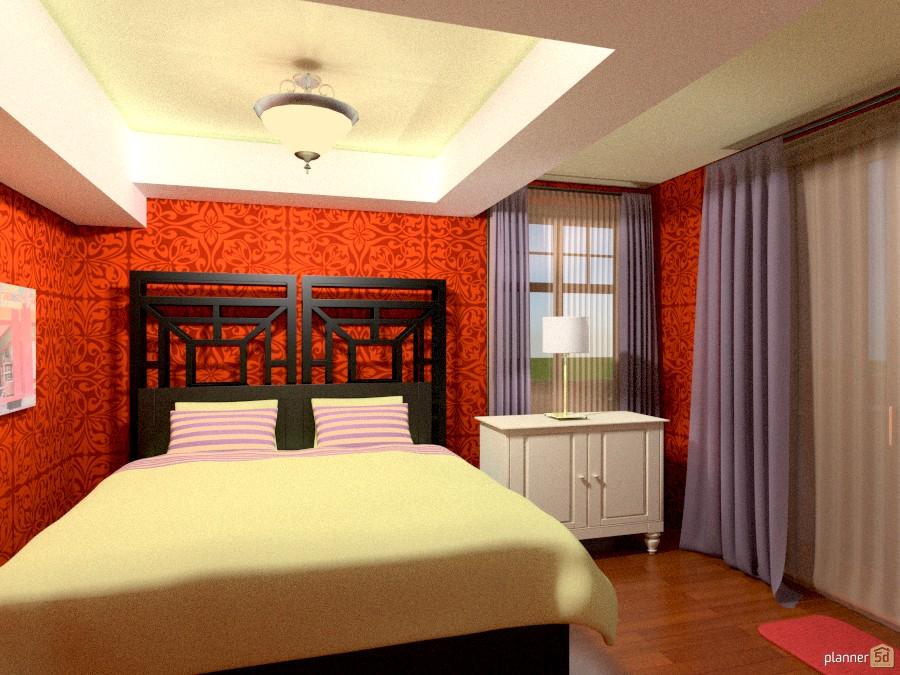 Orange oriental Room 1014972 by Versailles Tee image