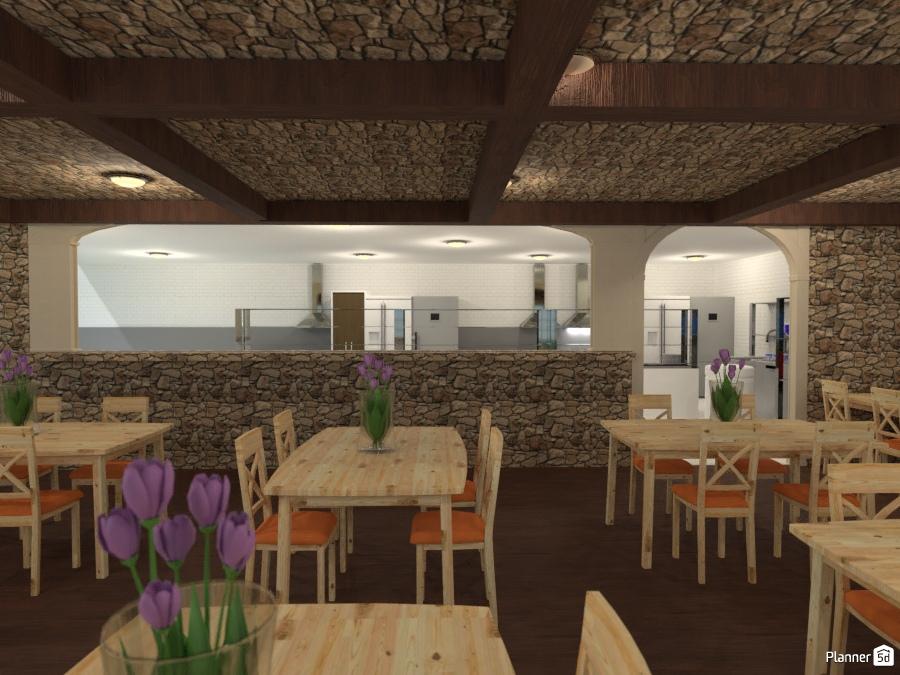 two station kitchen n restaurant - Ideas de muebles - Planner 5D