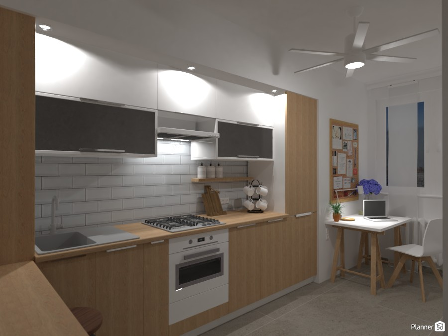 City apartment No. 1 / Kitchen with