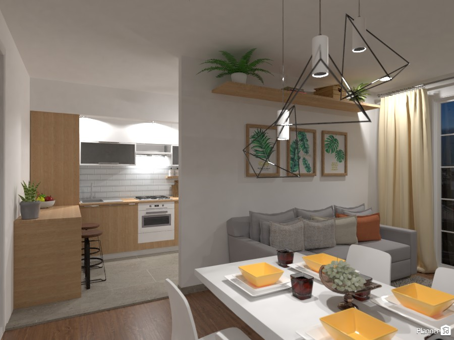 City apartment No. 1 / Living room & Kitchen 3479486 by Lucija Marko image