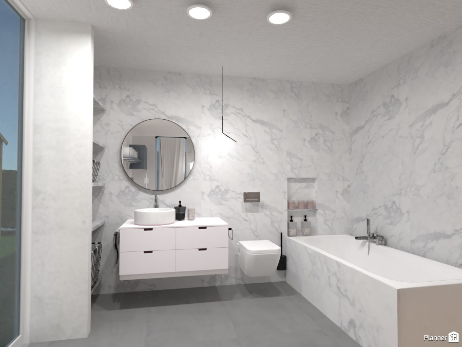 bathroom with marble tiles 4189062 by polinaminkina image