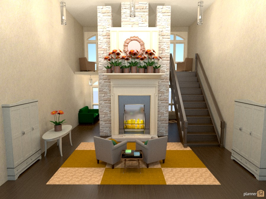 Entry Foyer With Fireplace : Entryway fireplace house ideas planner d
