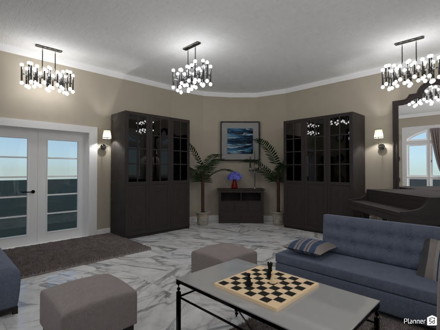Living room with piano contest design.   render 1 3578958 by Doggy image