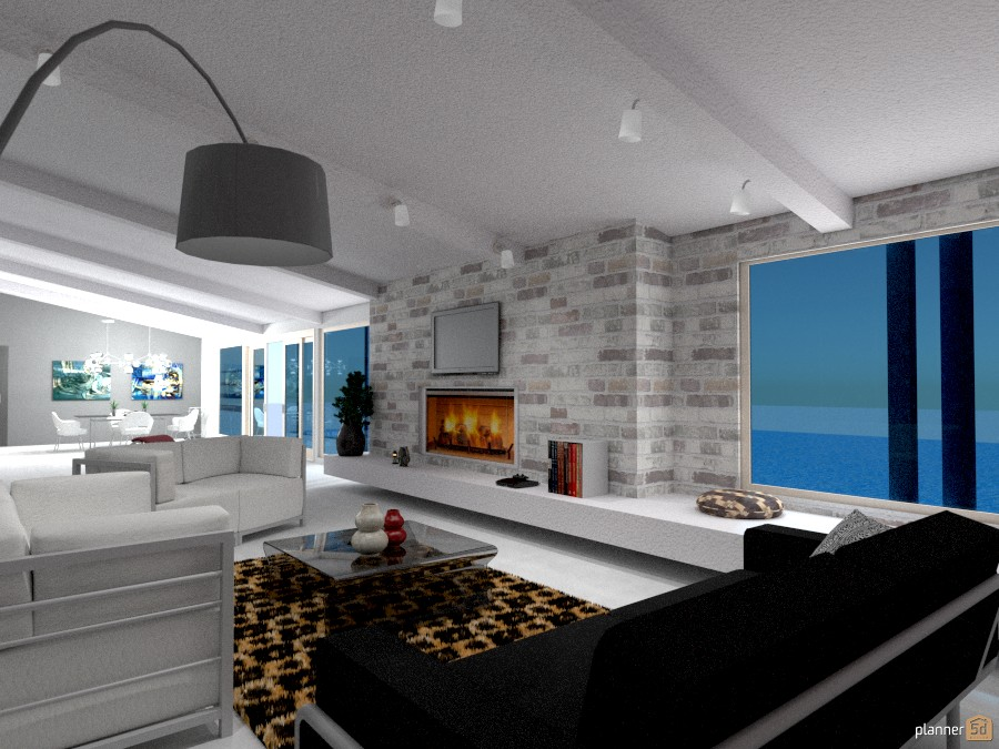 Villa vacanze salotto con camino apartment ideas - Idee illuminazione soggiorno ...