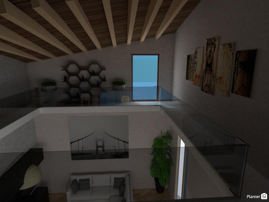 cucina soggiorno con soppalco - Apartment ideas - Planner 5D