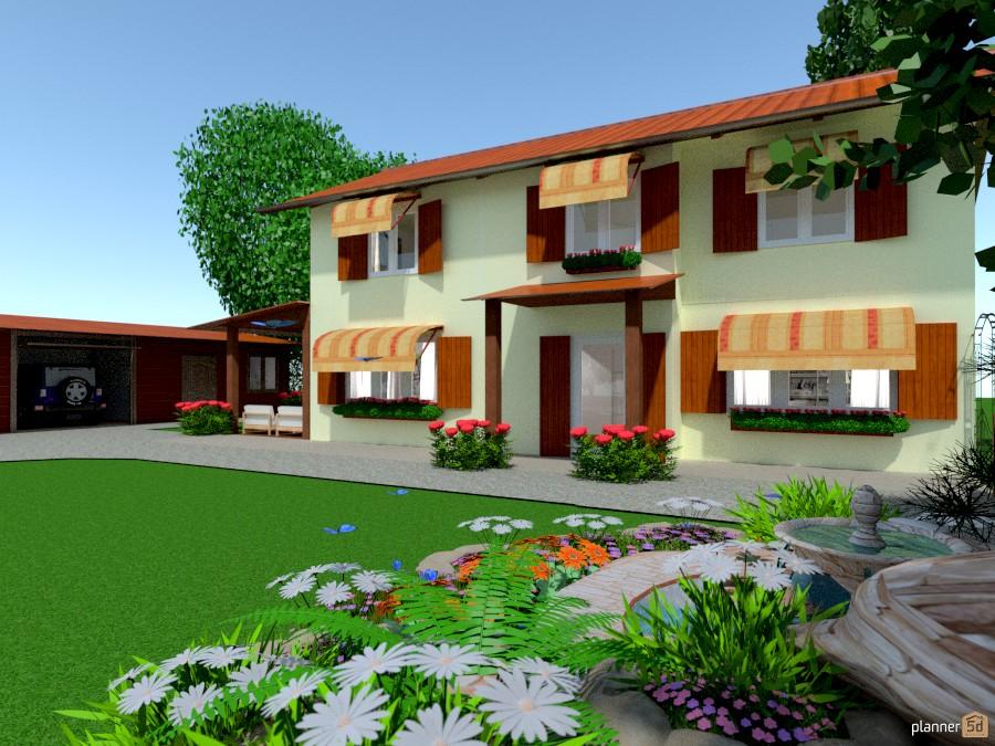 Tradizionale casa di campagna house ideas planner 5d for Piani di casa di campagna con veranda