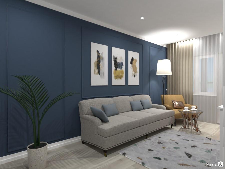 Сине-бежевая гостиная 3822280 by Ksenia image