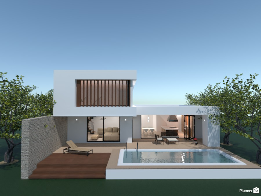 Modern house in the forest 4203151 by rilly image
