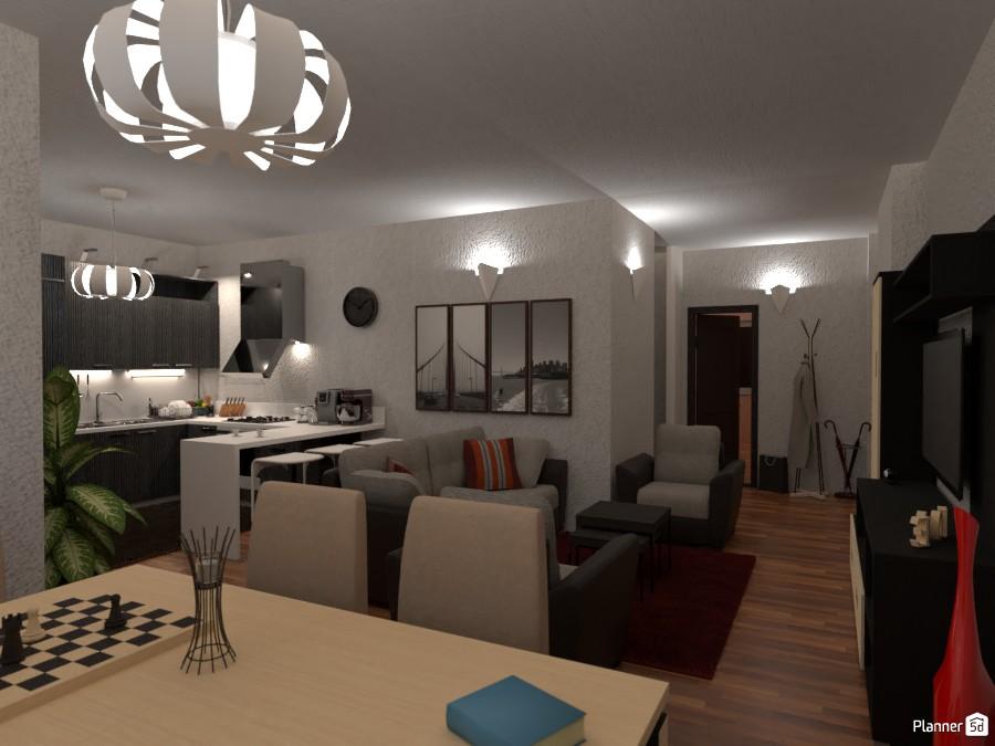 Open space Soggiorno, Sala da pranzo e Cucina 3981486 by daveciots image