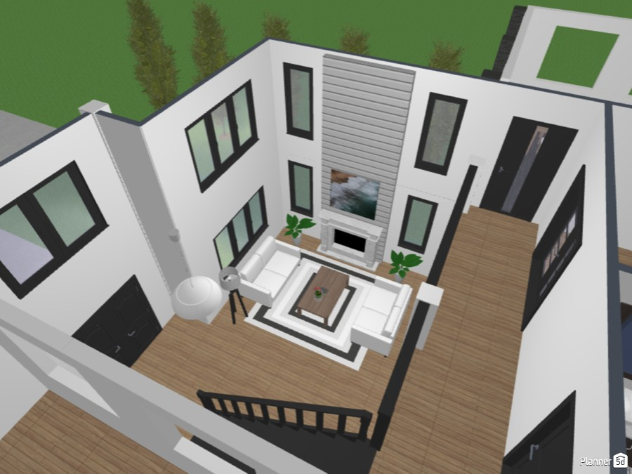 Modern Farmhouse Dream Home Free Online Design 3d Floor Plans By Planner 5d