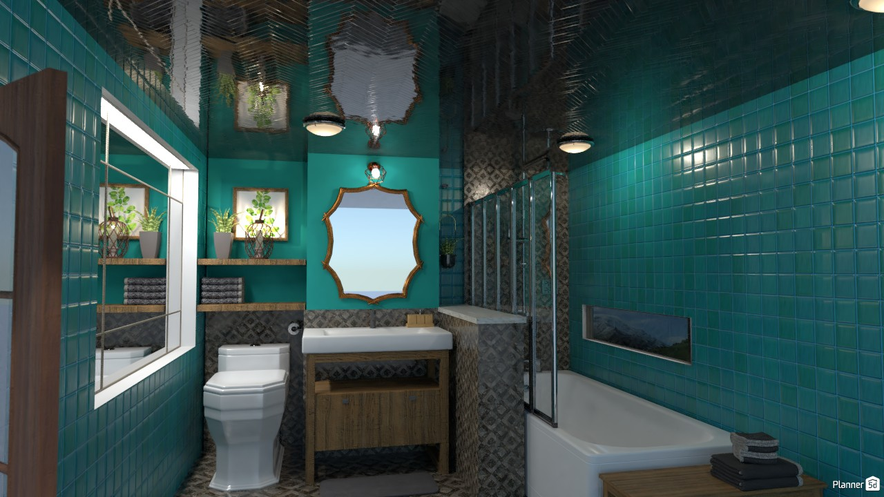 Green bathroom 3901112 by Zhaobin image