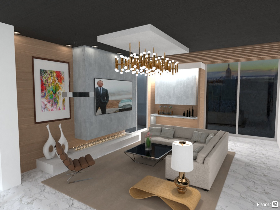 PENTHOUSE LIVING ROOM LIGHT 11 2662543 by Arni image
