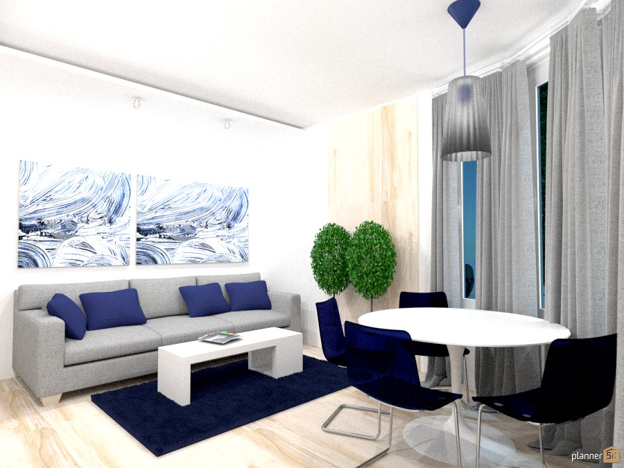 гостиная кухня столовая   apartment ideas   planner 5d