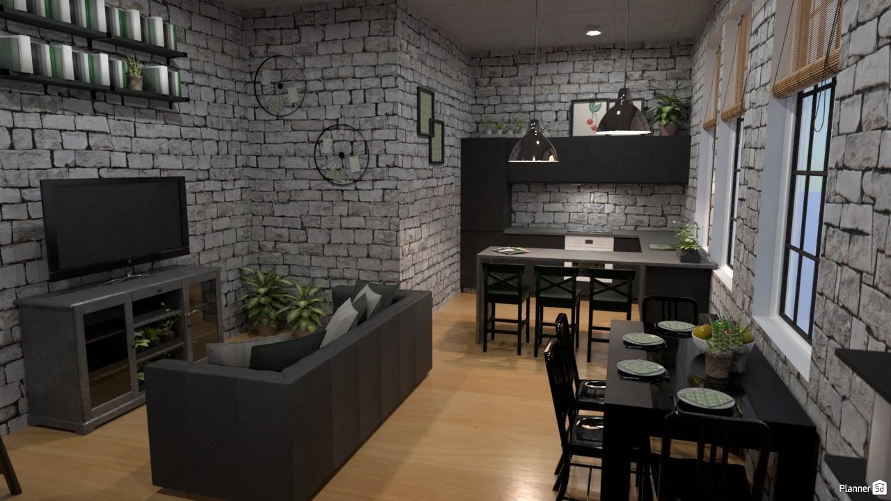 Estilo interior LOFT (1er. Ángulo) batalla de diseño. 4143387 by Hall Pat image