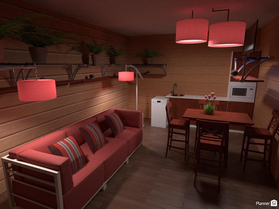 Tiny House No1 Free Online Design 3d House Ideas Anom By Planner 5d