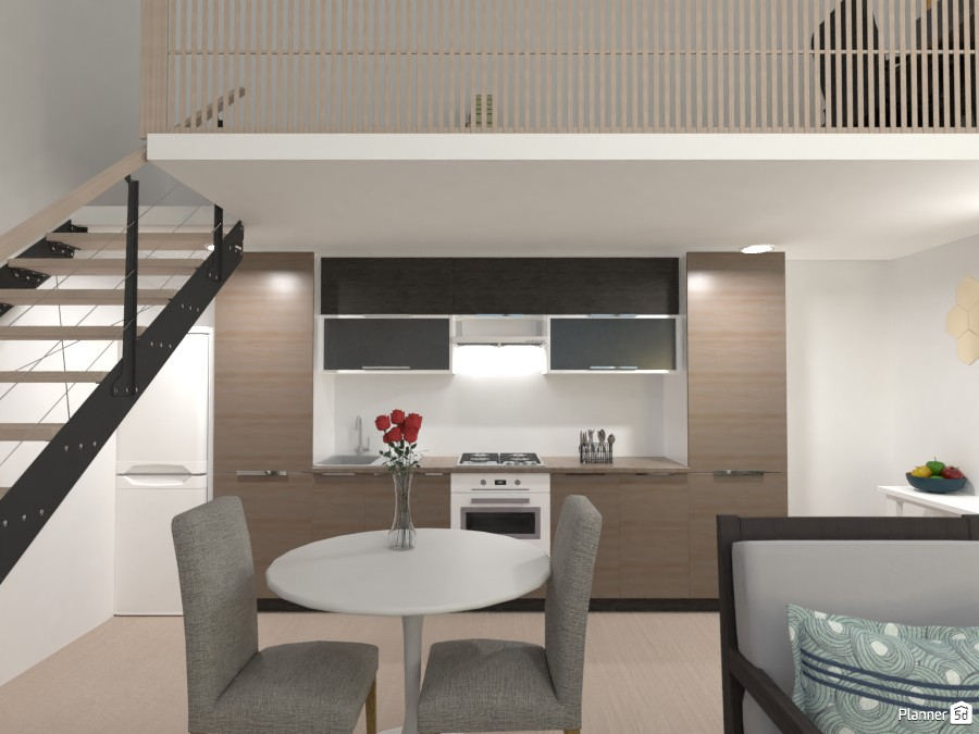 Space Over Two Floors: Kitchen/Dining 3684195 by Erin image