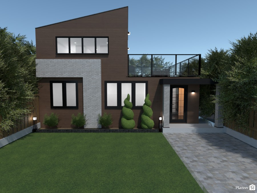 Wooden modern house 3754591 by rilly image