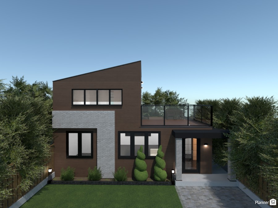Wooden modern house 3754782 by rilly image
