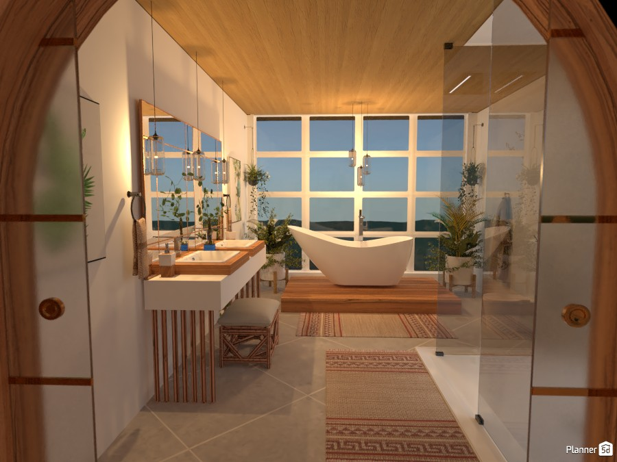 Glass Villa: Bathroom 4072530 by Micaela Maccaferri image