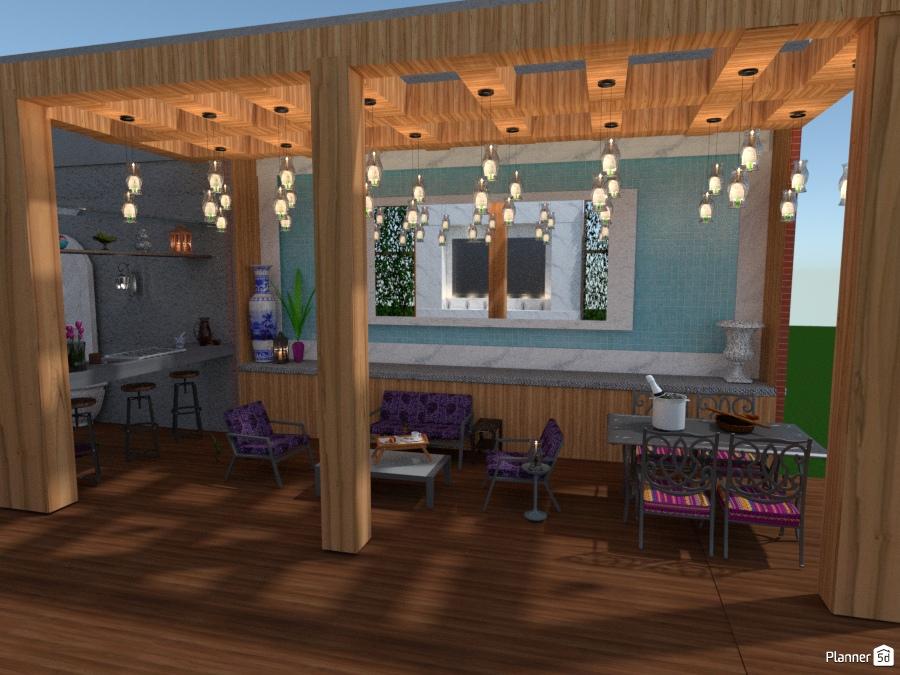 Candlelit pergola apartamento ideas planner 5d - Iluminacion pergolas ...