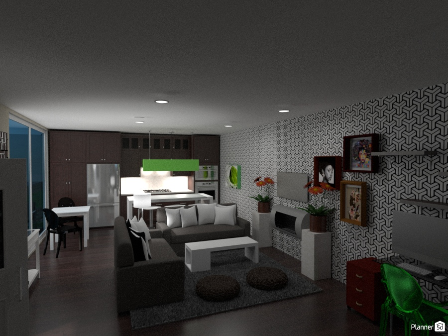 Cute 1 bedroom - Ideas para apartamentos - Planner 5D
