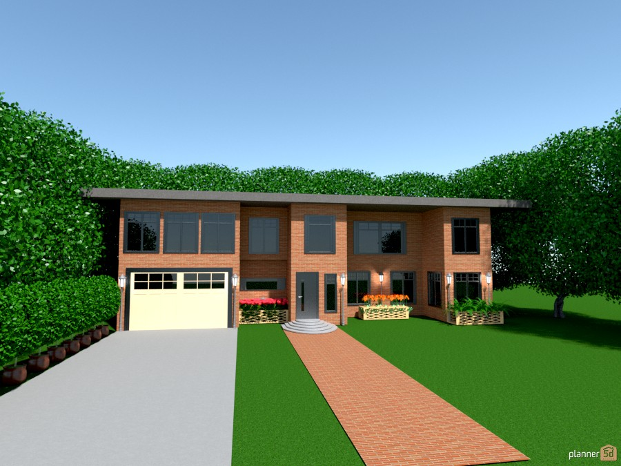 2 story brick n 2 car garage 932887 by Joy Suiter image