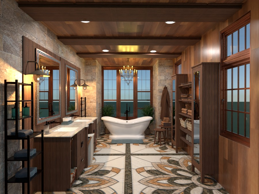 Country Master bath 3901393 by LIKE! Salvatore's Design page 304 image