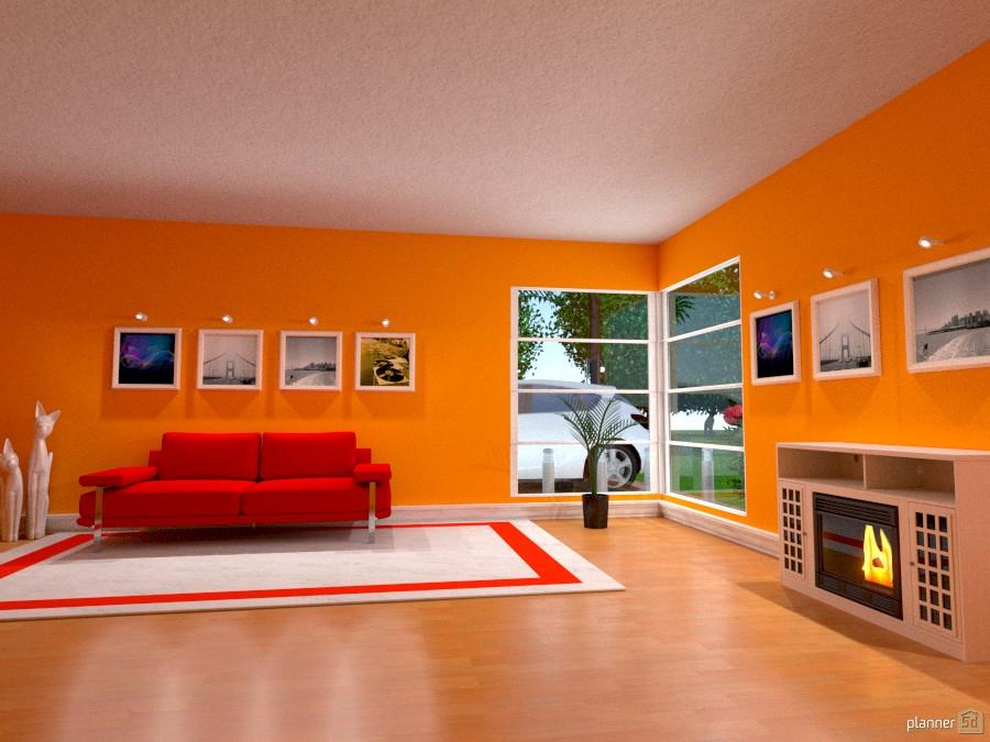 Sala de estar naranja :) 879962 by Pabliito Valles image