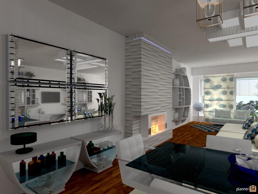 Motivi di blu ( zona bar) - Apartamento ideas - Planner 5D