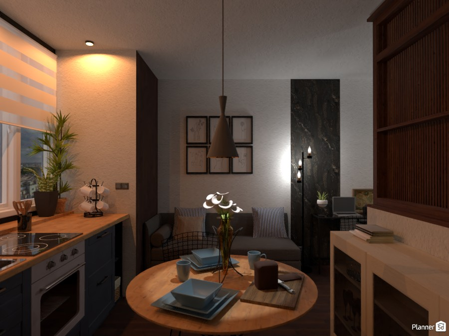 Mini Apartment / Kitchen+living room 3685470 by Lucija Marko image