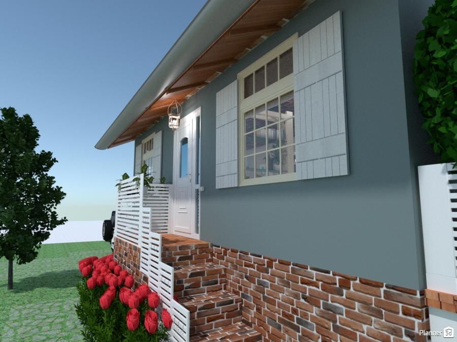 Lodge near the lake entrance house ideas planner 5d - Iluminacion de terrazas ...