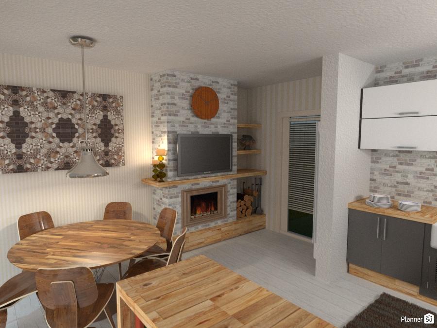 Cucina con angolo pranzo #1 - Kitchen ideas - Planner 5D
