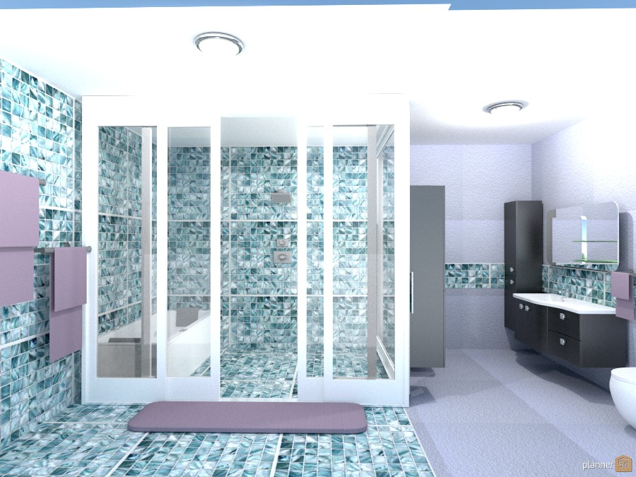 glass shower/tub combo 991750 by Joy Suiter image