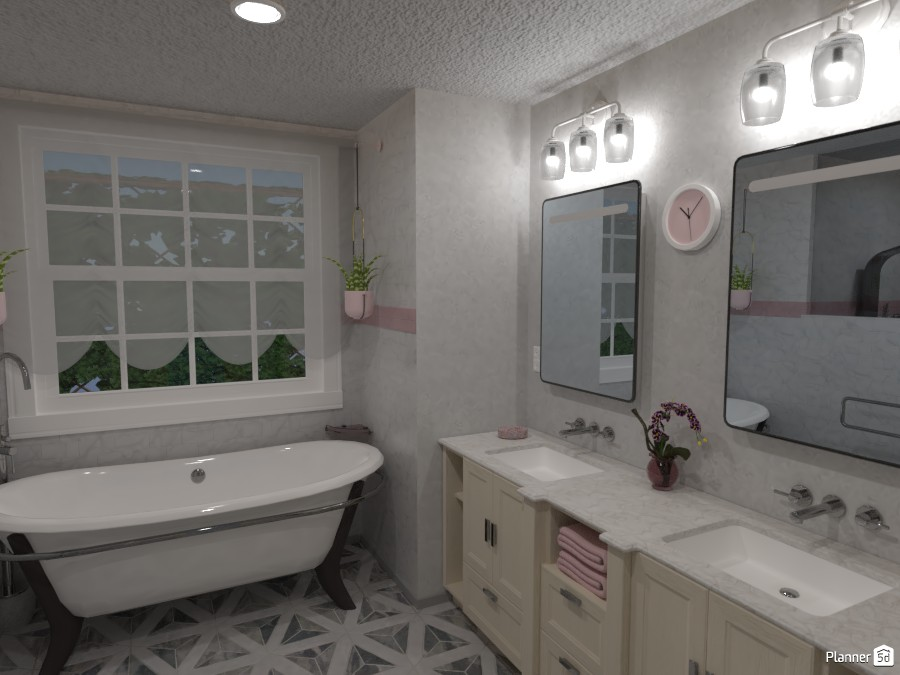 Master Bathroom, Home Design #209-A 3980548 by Valerie W. image